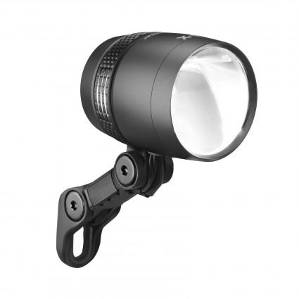 Busch & Müller Lumotec IQ- X Scheinwerfer für Nabendynamo 100 Lux, schwarz matt